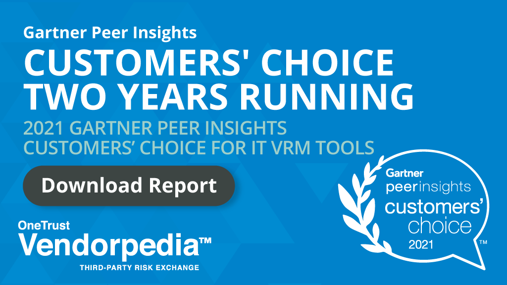 OneTrust Voted Customers' Choice for VRM